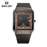 Reloj de manera ocasional de los hombres de Belbi con un reloj de la hebilla de la mariposa de la calidad de la PU del calendario