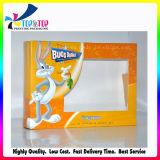 Cadre de empaquetage de papier de guichet clair de PVC de coût bas