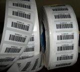 Collant de papier fait sur commande de code barres avec l'impression noire