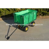 Vagão 4-Wheel resistente do engranzamento do jardim