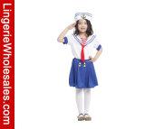 Reizendes kleine Mädchen-Halloween-Partei-Kleid-Seemann-Rollen-Spiel-Kostüm