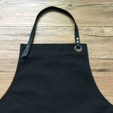 Professional Supplier Black Canvas boss Apron with Leather Trim