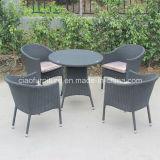 Cafetaria Stackable Table e Chairs de Rattan do PE