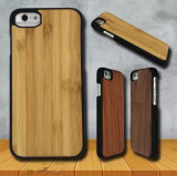 자연적인 목제 iPhone 기본 Rubberized PC를 가진 7개의 6개의 케이스