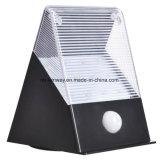 Parede ao ar livre da luz do sensor de movimento da potência 12LED solar