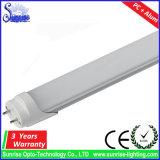 명확한 유백색 G13는 백색 0.6m 9W T8 LED 관 빛을 데운다