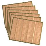 Calor de bambu natural chinês esteira de tabela colorida do jantar da borda
