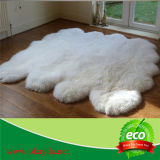 Eco日焼けさせるのための床の自然で白いカラーの本物のオーストラリアの羊皮の倍のQuartoのSexto Octoの毛皮のカーペット