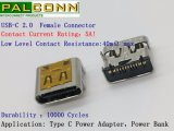 Conetor 16pin SMD Current~5A de USB2.0-C, Voltage~20V
