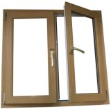 Le type européen de qualité a personnalisé le guichet en verre de tissu pour rideaux ouvert de PVC d'oscillation (PCW-041)