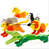Le puzzle animal intellectuel en bois joue 3D
