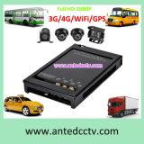 4カメラ車の手段のためのGPS/WiFi/3G/4Gの移動式DVRの監視サーベイランス制度