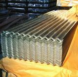 La surface couvrante galvanisée ondulée de feuilles a enduit pour le matériau de construction