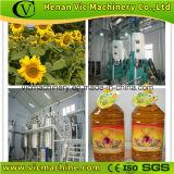 Produção completa de óleo da luz solar das sementes ao óleo de cozinha