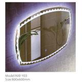 La stanza da bagno decorativa IP44 impermeabilizza lo specchio chiaro del LED