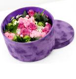 Rectángulo de empaquetado del terciopelo de la flor redonda hermosa de Rose