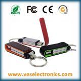 Vara de couro de carimbo quente do USB do logotipo da melhor memória Flash relativa à promoção do presente da movimentação do flash do USB