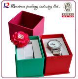 Het Vakje van de Opslag van de Vertoning van het Karton van de Verpakking van het Horloge van de Gift van het Leer van het document (YS97)