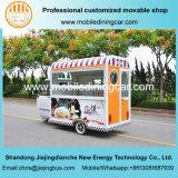 Projeto bonito feito no reboque móvel do alimento do triciclo do alimento de China