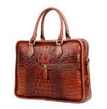 Портфель компьтер-книжки кожаный мешка печати Brown Croc цены по прейскуранту завода-изготовителя роскошный