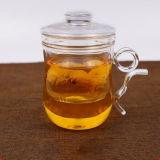 Taza de té hecha a mano de cristal creativa de la taza de té con el filtro