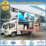 5 tonnes de Foton d'étape de véhicule mobile 4X2 DEL de promotion annonçant le camion