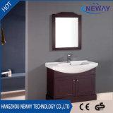Einfacher Entwurfs-festes Holz-wasserdichte einzelne Wannen-Badezimmer-Eitelkeit