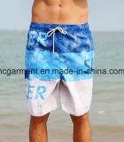 4 Shorts da placa da tela da maneira, os Shorts da praia da impressão da letra para o homem