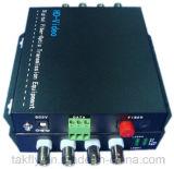 4 conversor video ótico da fibra da canaleta 1080P Cvi/Tvi/Ahd