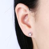 Do parafuso prisioneiro pequeno da orelha da forma da flor da prata 925 esterlina brinco simples