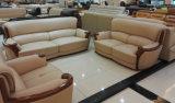 Sofa en bois, sofa en cuir, sofa de combinaison, sofa de la Chine (A59)