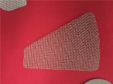 점용접 가장자리 감싸인 가장자리를 가진 길쌈된 철망사 또는 꿰뚫린 필터 디스크