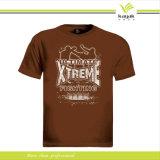 Kundenspezifisches Qualitäts-Baumwollbildschirm-Drucken-rundes Stutzen-T-Shirt (R-09)