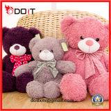 3 cores encheram o brinquedo enchido urso do luxuoso do brinquedo do luxuoso