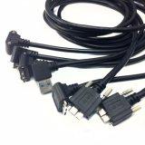 드래그 사슬을%s 엄지 나사 권리 유형 높은 유연한 사진기 링크 케이블을%s 가진 마이크로 B에 USB 3.0 a/M