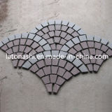 Landscaping/テラス/DrivewayのためのデザインBlack Basalt Paving Cobble Stone