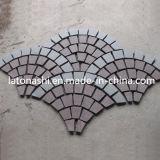 Basalto negro del diseño que pavimenta la piedra del adoquín para ajardinar/patio/calzada