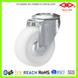 furo de parafuso de nylon branco de 160mm com a roda do rodízio do freio (G102-20D160X40S)