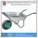 Carrinho de mão de roda do mercado de Rússia (WB - 6204) com a bandeja chapeada zinco