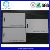 Carte futée vierge de PVC du blanc RFID