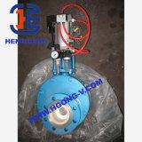 Soupape à vanne en céramique pneumatique de disque d'acier de moulage de DIN/API