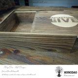 Hongdao modificó el rectángulo de empaquetado del almacenaje para requisitos particulares de madera de lujo con el desplazamiento de la tapa para el _E de madera de rectángulo de regalo
