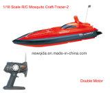 Vuelos 1/16 rápida velocidad de RC Barcos controlados con motor doble