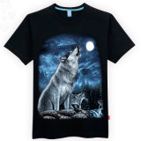 Men's 100 Cotton Subliming Casual 3D Animal imprimé T-Shirt
