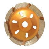 Колесо чашки одиночного рядка меля для извлекать старую Epoxy землю
