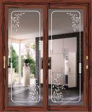 Раздвижная дверь декоративного способа 2016 алюминиевая для спальни