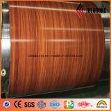 Striscia di alluminio di colore interno di legno di sembrare