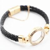 Bijoux en cuir magnétiques de bracelet de Locket de grossiste de constructeur