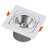 Do projector quadrado da lâmpada da luz de teto 10W do diodo emissor de luz da ESPIGA projeto novo Downlight