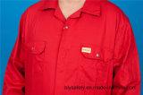 Vêtement protecteur bon marché élevé de Quolity de longue sûreté de chemise du polyester 35%Cotton de 65% (BLY1019)